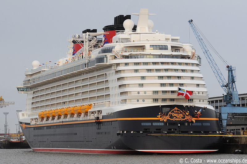 Disney Dream is moored at Columbus Cruise Center, Bremerhaven on December 10th, 2010...