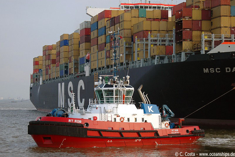 RT Rob is Kotug's latest and strongest tug boat operating at Bremerhaven.